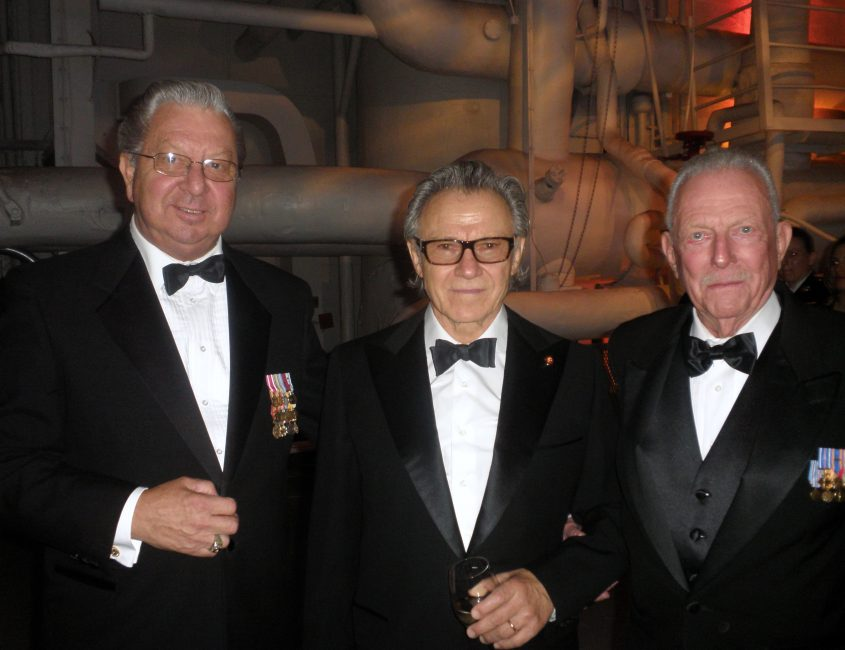 Ed Schloeman with Harvey Keitel and Jerry Yellin